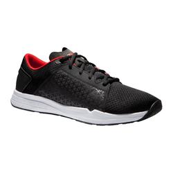 Zapatillas gimnasio Fitness Cardio Domyos 500 hombre negro rojo