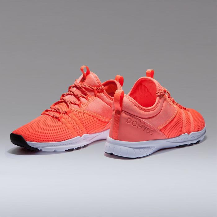 Fitness schoenen cardiotraining 120 voor dames, oranje