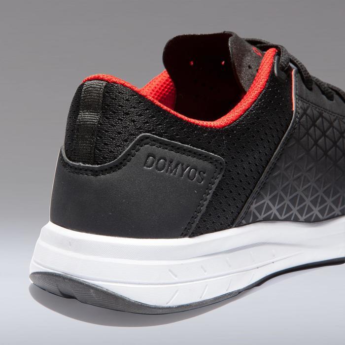 754c5c17e64 Domyos Fitness schoenen 500 cardiotraining voor heren, zwart/rood ...