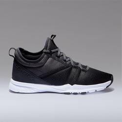 Fitnessschoenen 120 mid dames zwart