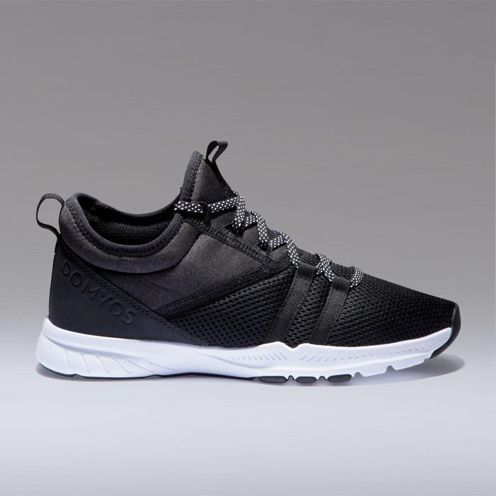 Schoenen fitness cardiotraining dames 120 mid zwart