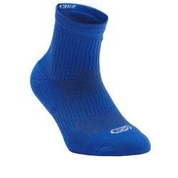 Lote 2 pares de calcetines atletismo niños confort caña alta azul índigo