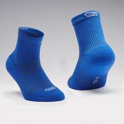 Confort children's athletics socks high pack of 2 indigo