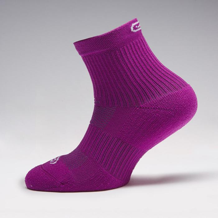 Laufsocken Komfort High Kinder 2er-Pack violett