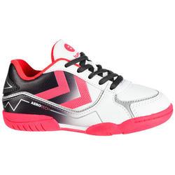 Handbalschoenen voor meisjes Aerotech grijs roze wit