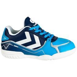Handbalschoenen jongens Aerotech blauw/wit