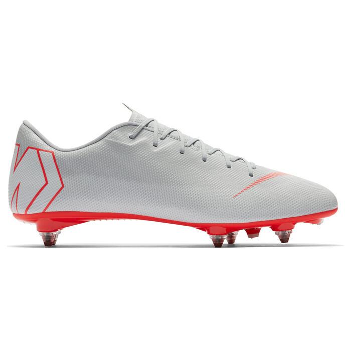 revisa f7b7b 92d9a Botas de Fútbol adulto Nike Mercurial Vapor SG gris y rojo