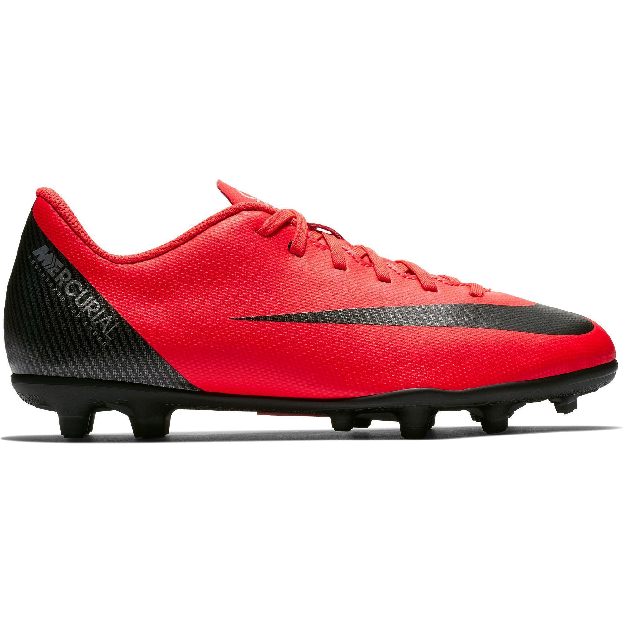 Botas de Fútbol Nike Vapor Club CR7 MG niños rojo negro 17bfb3b58c42d
