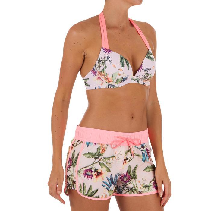 女款集中型襯墊式泳裝上衣ELENA-花卉款