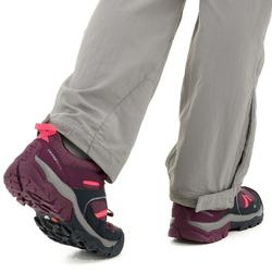 Zapatillas de montaña niños cordones CROSSROCK impermeables talla 35 a 38