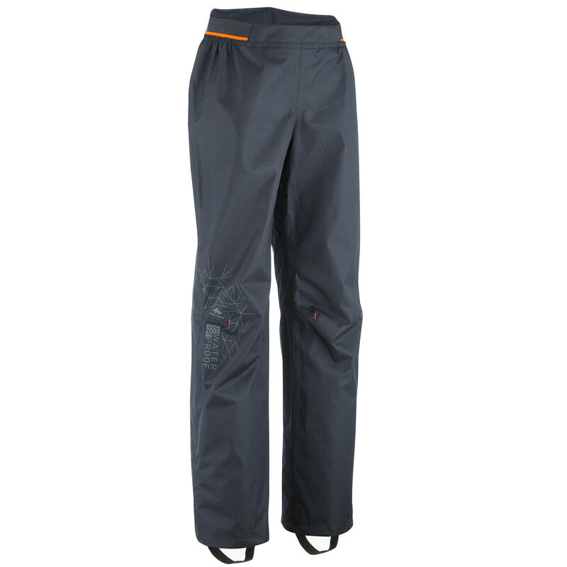 Kids' Hiking Over Trousers - MH500 Aged 7-15 - Black