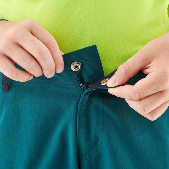 Pantalon de randonnée modulable - MH500 vert foncé - enfant