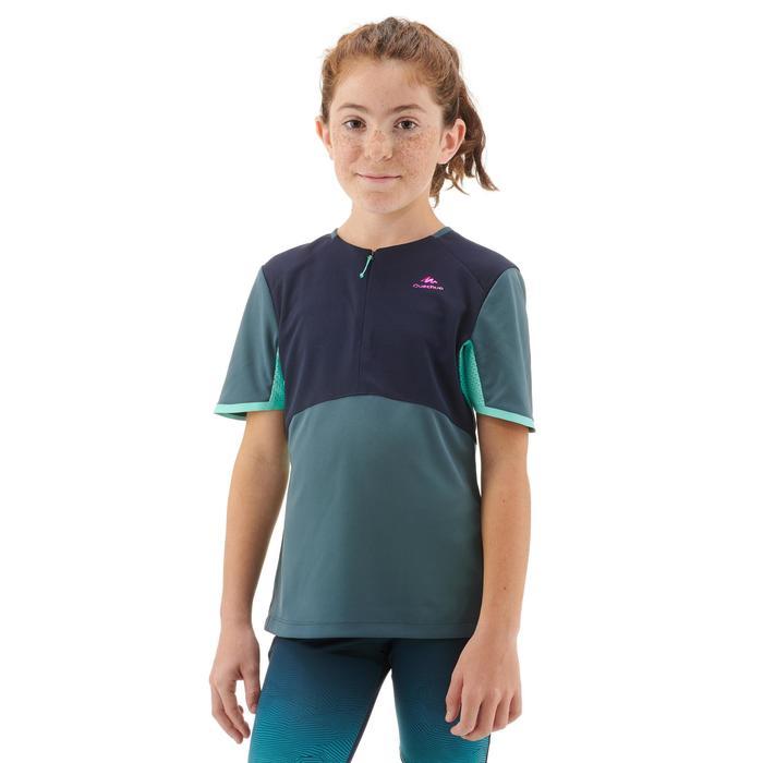 Wandershirt MH550 Kinder grau/blau