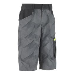 MH500 Kids' Hiking Shorts - Grey