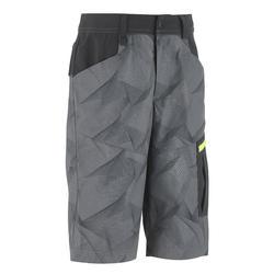 Pantalón Corto de Montaña y Trekking Niños 7-15 años MH500 Gris Negro
