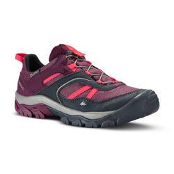 Zapatillas de senderismo niños cordones CROSSROCK impermeables violeta