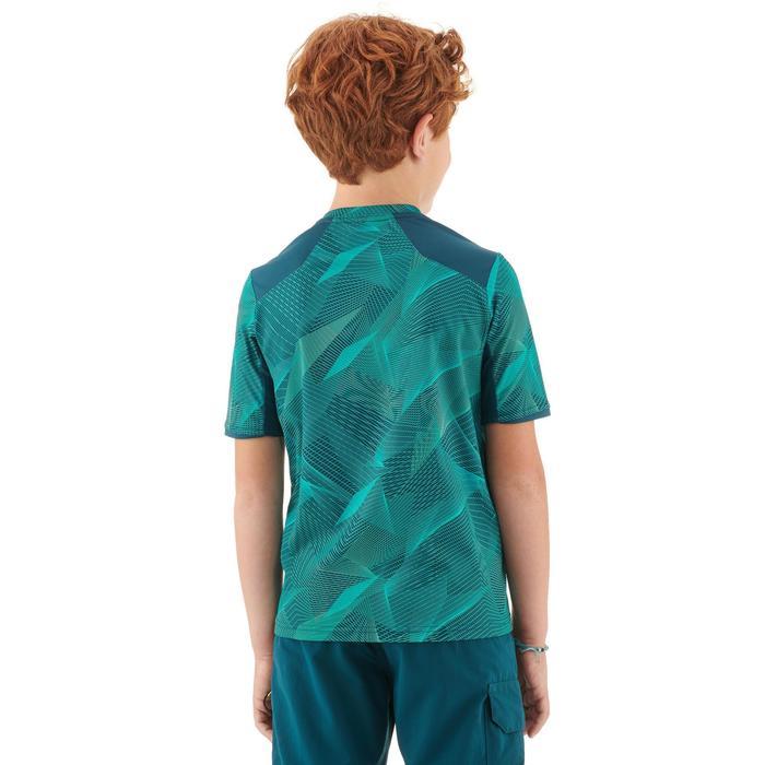 Camiseta Manga Corta de Montaña niños 7-15 años Forclaz MH550 Turquesa