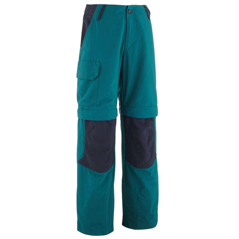 KRATKE HLAČE IN MAJICE ZA OTROKE OD 7 DO 15 LET Pohodništvo - Pohodniške hlače MH550 QUECHUA - Otroci