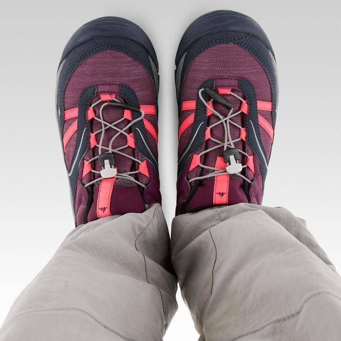 Waterdichte wandelschoenen met veters voor kinderen Crossrock paars