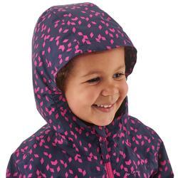 Waterdichte trekkingjas voor kinderen MH500 marineblauw/roze