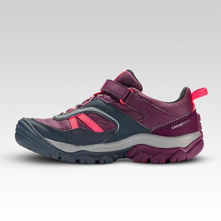 Chaussures imperméables de randonnée -CROSSROCK violettes- enfant 28 AU 34