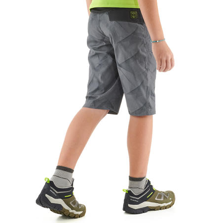MH500 Children's Hiking Shorts - Grey