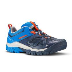 Zapatillas de senderismo en montaña caña baja con cordones niño Crossrock azul