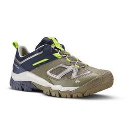 Zapatillas de senderismo en montaña caña baja con cordones niño Crossrock Caqui