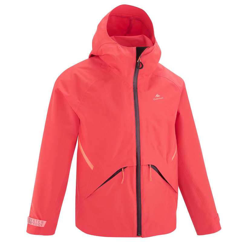 JACKETS & OVERPANT BOY 7-15 Y Hiking - MH550 JR Jacket - Coral QUECHUA - Hiking Jackets