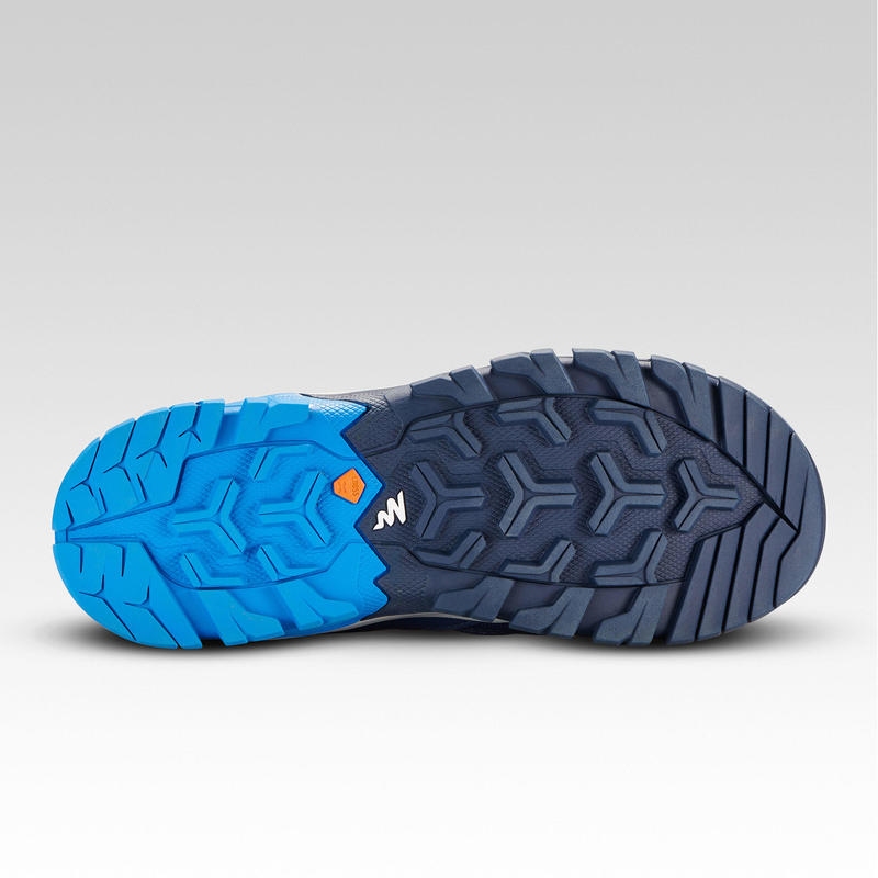 Kid's Mountain Hiking Low Lace-up Shoes Crossrock - Blue