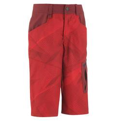 Pantalón Corto de Montaña y Trekking Niños 7-15 años MH500 Rojo