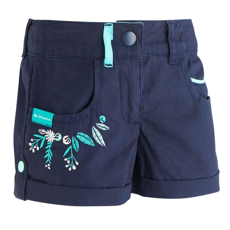 TS-SH-GIAC-PANT BAMBINA 2-6A Sport di Montagna - Short bambino MH500 blu QUECHUA - Trekking bambino