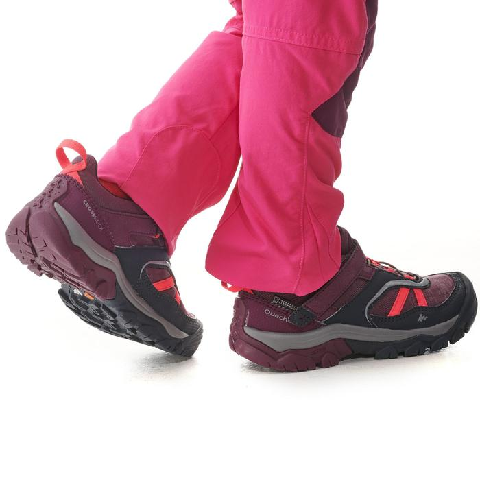 Waterdichte wandelschoenen met klittenband voor kinderen Crossrock paars