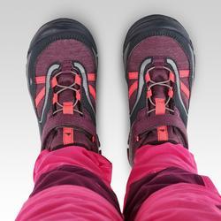 Zapatillas de montaña niños talla 28 a 34 impermeables CROSSROCK violeta