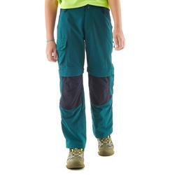 Pantalón Transformable de Montaña y Trekking Quechua MH550 Niños verde oscuro