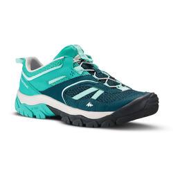 Zapatillas de montaña y senderismo niños Crossrock Azul turquesa talla 35 a 38
