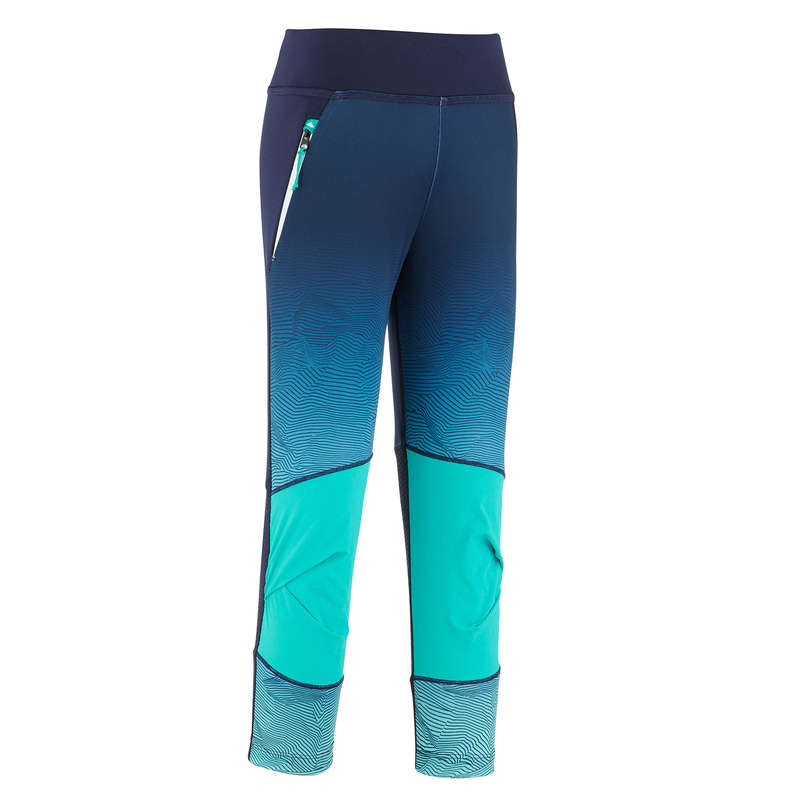 PANTS SHORTS, T SHIRT GIRL 7-15 Y Hiking - LEGGINGS MH500 TW - Turquoise QUECHUA - Hiking Clothes