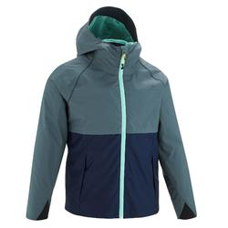 MH500 Kids' Hiking Jacket - Grey Blue