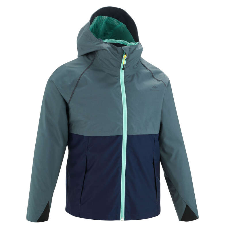 JACKETS & OVERPANT GIRL 7-15 Y Hiking - MH500 JR Jacket - Grey Blue QUECHUA - Hiking Jackets
