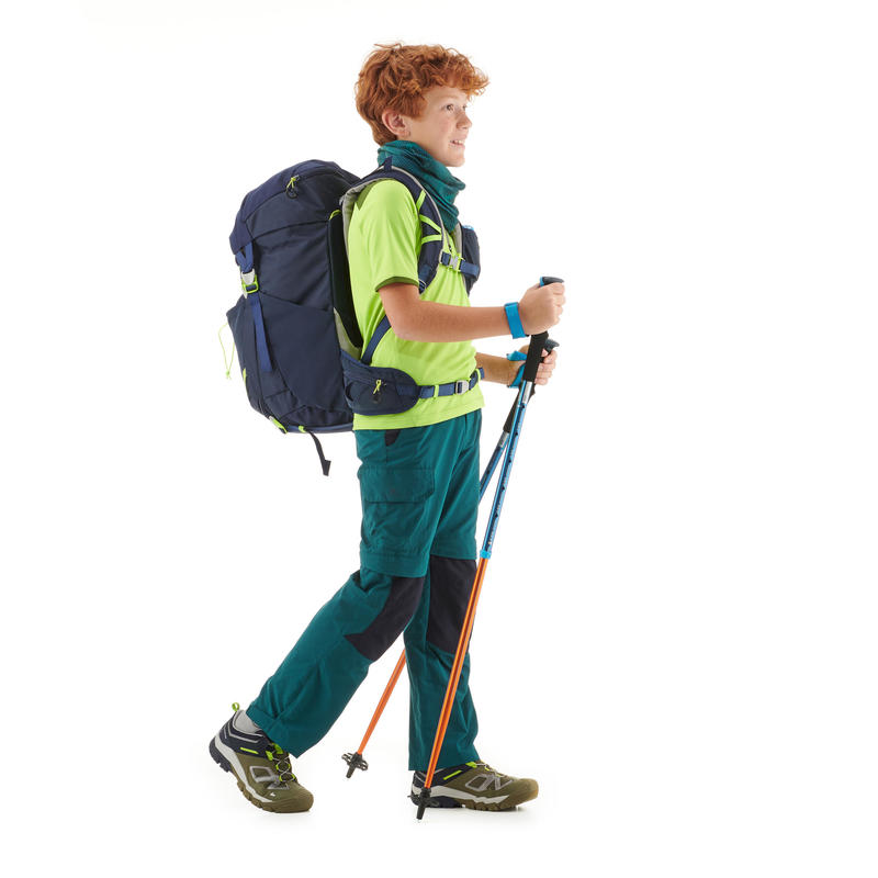 Kid's Hiking Pants MH550 (Modular) - Dark Green