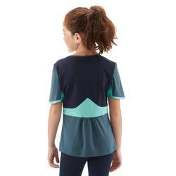 Camiseta de senderismo niños 7-15 años MH550 azul