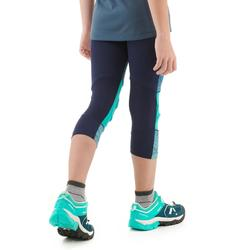 Leggings Wandern MH500 Kinder türkisblau