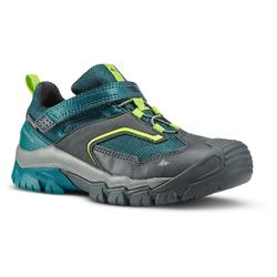 Zapatillas de senderismo niños tira autoadherente CROSSROCK impermeables verde