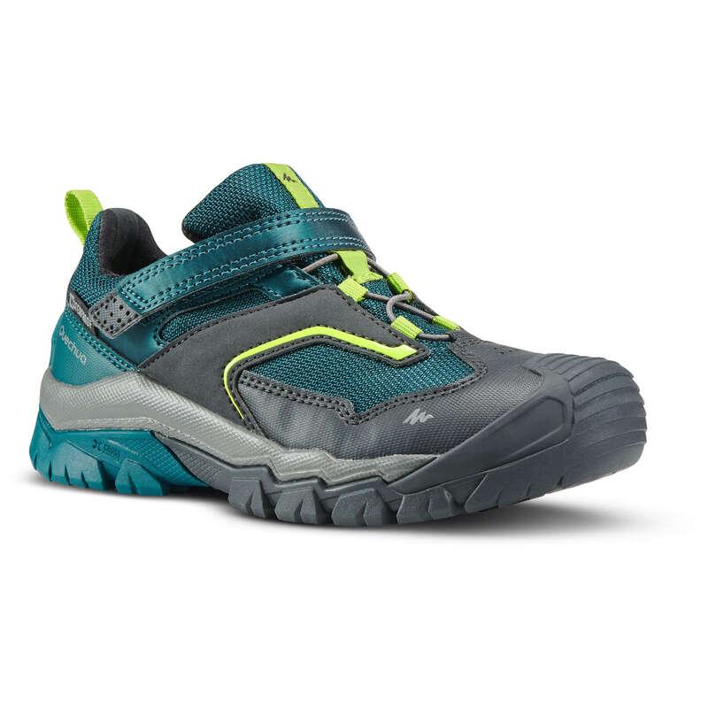 SHOES BOY Hiking - Crossrock Kids Waterproof Walking Shoes - Green  QUECHUA - Outdoor Shoes