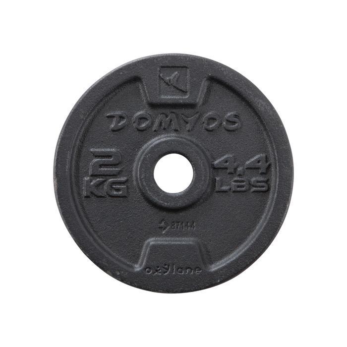 PRODUCTO REACONDICIONADO: Kit de pesas y barras de musculación Domyos de 50 kg