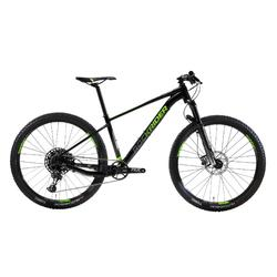 "Cross country mountainbike XC 100 27.5"" Eagle zwart/fluo"