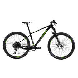 """Bicicleta de Montaña Rockrider XC 100 27,5"""" 12v Negro y Fluor"""