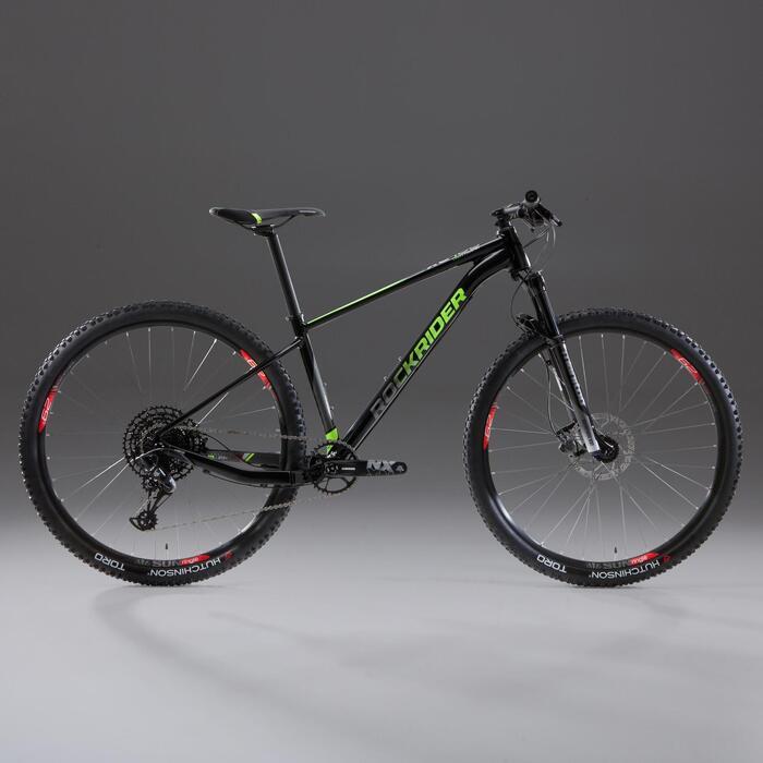 """Vélo VTT XC 100 29"""" 12v Noir et Fluo"""