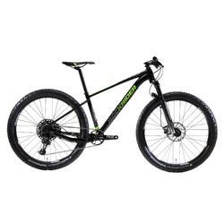 """Bicicleta de Montaña Rockrider XC 100 27,5"""" PLUS 12v Negro y Fluor"""
