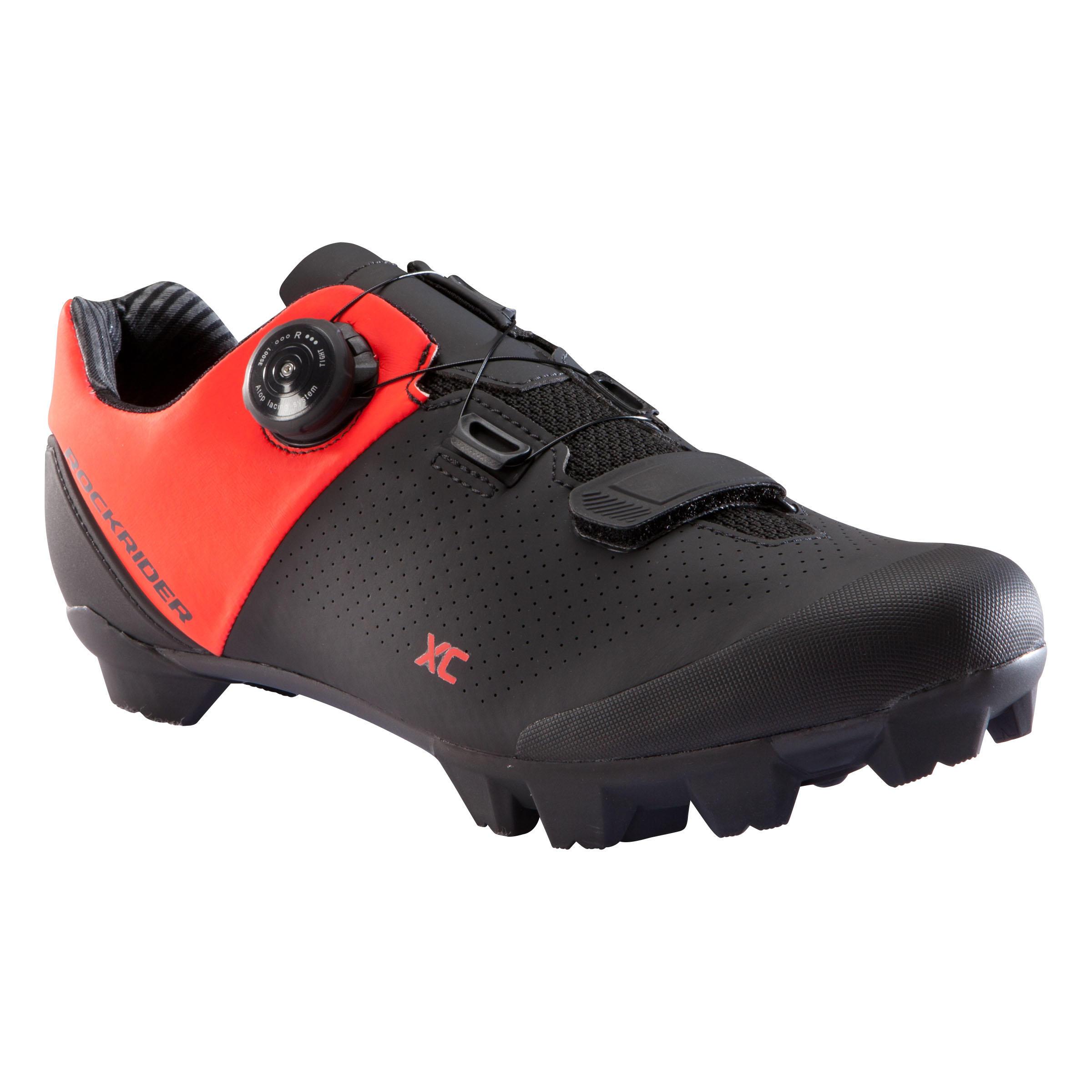 Fahrradschuhe MTB 500 XC rot | Schuhe > Sportschuhe > Fahrradschuhe | Rot - Schwarz | Rockrider